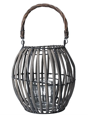 Wicker Balloon Lantern 20cm