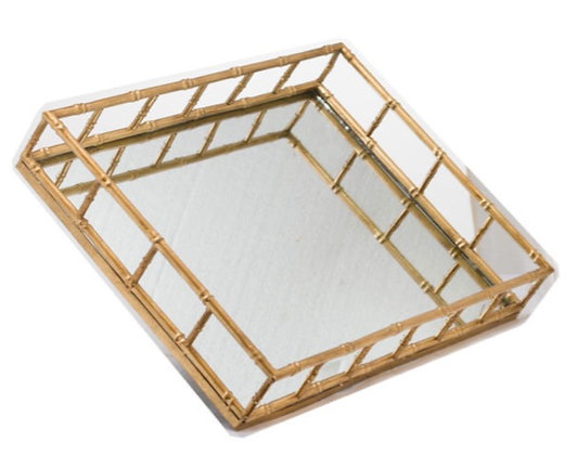 Set Of 2 Detailed Rectangular Trays