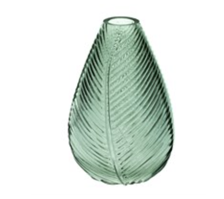 Green Leaf Impression Vase 22cm