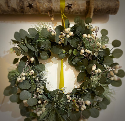 Wreath With White Berries