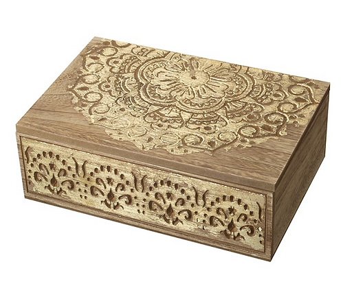 Gold Wooden Oblong Box