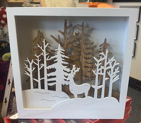 Lit Square Forest Scene