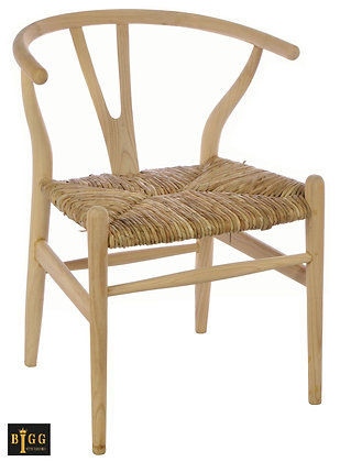 Bergen Dining Chair With Rush Seat