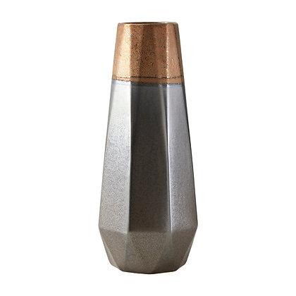 Jet Small Metallic Vase