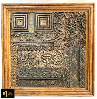 Wooden Print Blocks In Frame