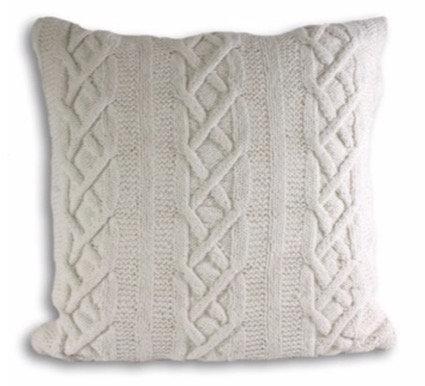 55cm x 55cm Cream Aran Cushion