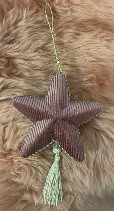 Hanging Velvet Star With Tassels