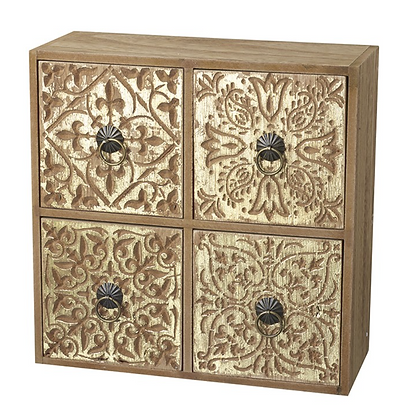 Gold Square Wooden Drawers