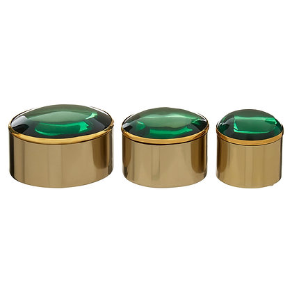 Nixie Set of 3 Trinket Boxes with Coloured Lids