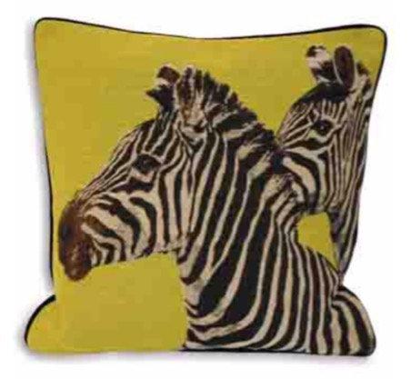 45cm Twin Zebra Cushion
