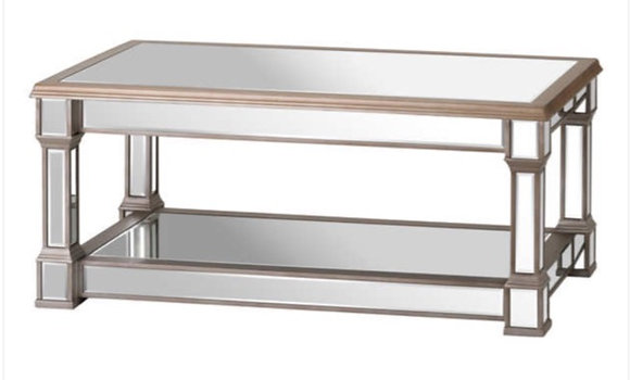 The Belvedere Collection 110cm Mirrored Display Table
