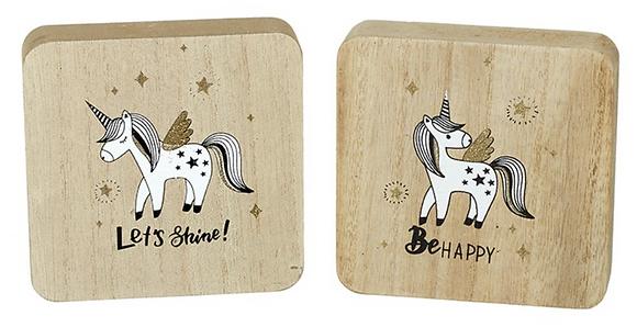Wooden Unicorn Plaque