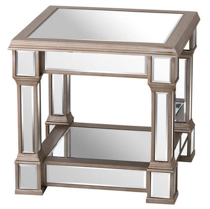 The Belvedere Collection 50cm Mirrored Side Table