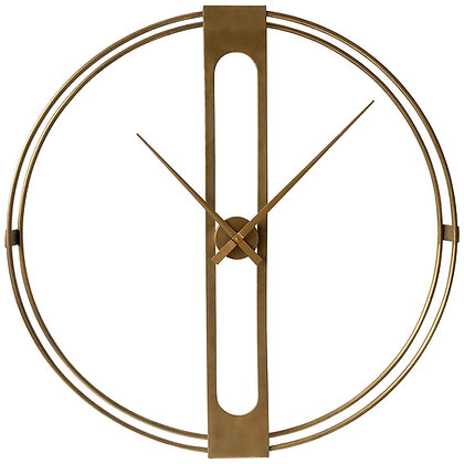 Beauly Gold Metal Wall Clock 107cm