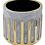 Thumbnail: Large Grey Gold Ceramic Planter