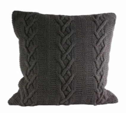 55cm x 55cm Charcoal Aran Cushion