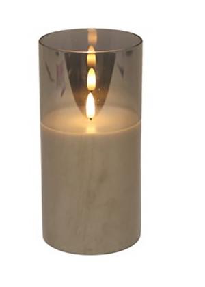 20x10cm Grey LED Candle