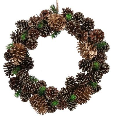 40cm Glitter Cone Wreath