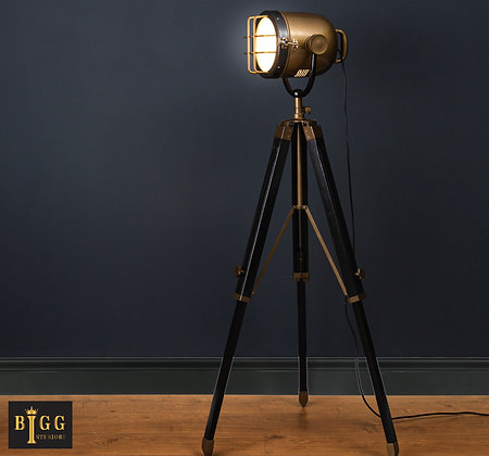 Spotlight On Tripod Brass / Black