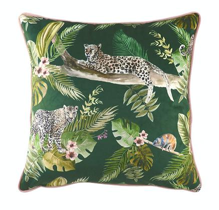 43cm Jungle Leopard Cushion Filled