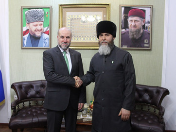 Встреча Муфтия ЧР Салаха-Хаджи Межиева с Советником Президента Палестины Махмудом Аль-Хабашем
