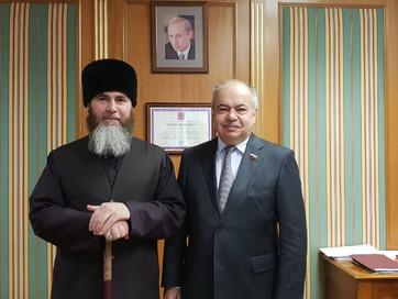 Муфтий ЧР Салах-Хаджи Межиев встретился с заместителем председателя Совета Федерации, уполномоченным