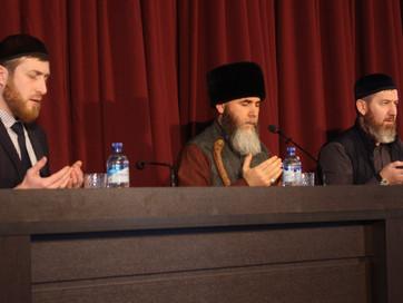 Муфтий ЧР Салах-Хаджи Межиев встретился со студентами Чеченского государственного университета.