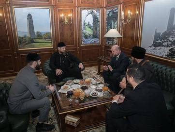 Рамзан Ахматович Кадыров встретился с Верховным судьёй Палестины Махмудом Аль-Хабашем