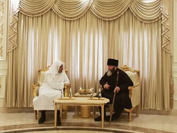 Муфтий ЧР Салах-Хаджи Межиев по приглашению побывал дома в гостях у генерального секретаря Всемирной
