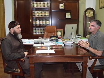 Муфтий ЧР встретился с руководителем еврогруппы «Вайнах»