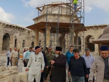 Муфтий ЧР Салах-Хаджи Межиев совершил инспекционную поездку в старинную мечеть Омейядов в Алеппо