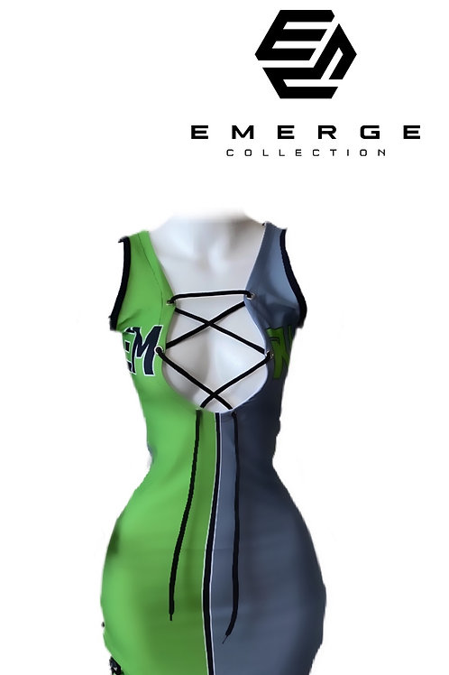 EMRG 2.0 DRESS (Neon Green & Black)