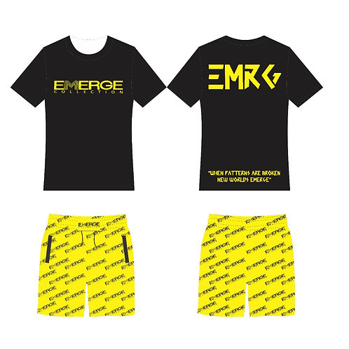 EMRG Short Set (Black & Yellow)