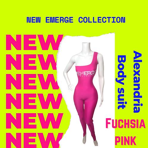 Alexandria Body Suit (Fuchsia Pink)