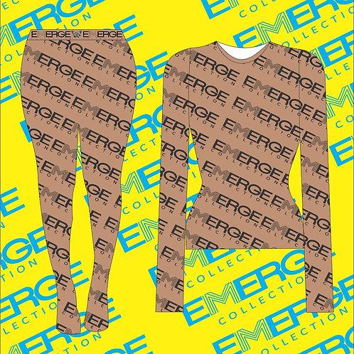 Emerge Mesh Two Piece Set (Nude)
