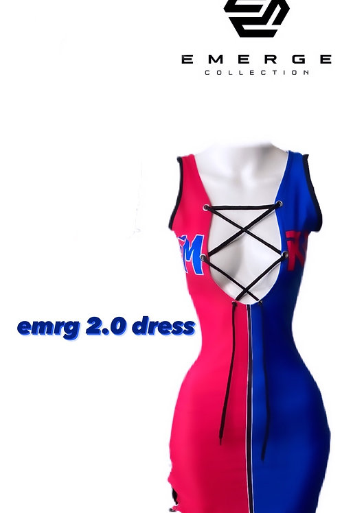 EMRG 2.0 DRESS (Royal Blue & Hot Pink)