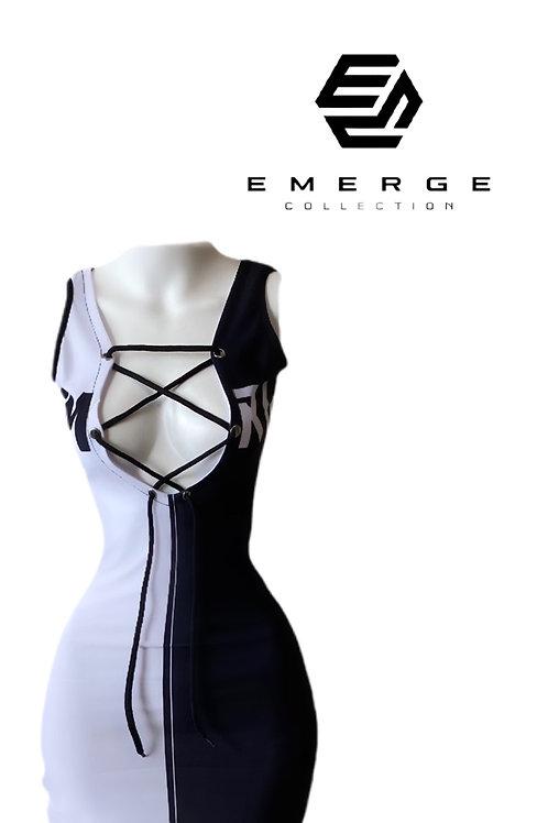 EMRG 2.0 DRESS (Black & White )