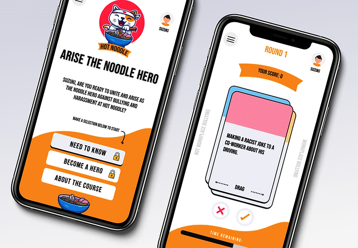 Hot Noodle: Gamified Bullying and Harassment eLearn