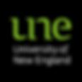 UNE University of New England Logo