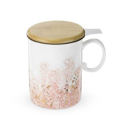 BENNETT™ PINK CERAMIC TEA MUG & INFUSER BY PINKY UP®