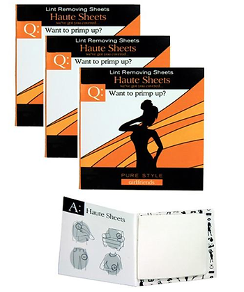 Haute Sheets; Lint Removing Sheets