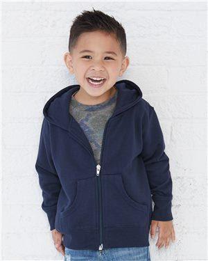 Rabbit Skins Toddler Full-Zip Fleece Hooded Sweatshirt