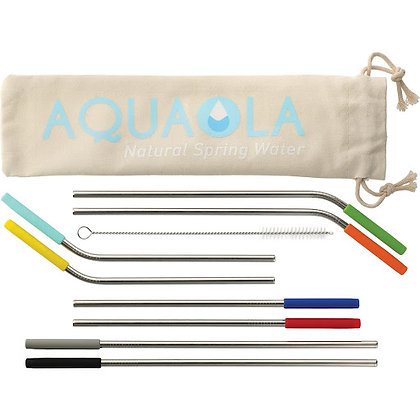 Reusable Stainless Straw 10 in 1 set