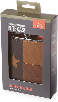 LEATHER TEXAS FLASK BY FOSTER & RYE™