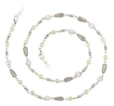 ADELLA EYEGLASS CHAIN/NECKLACE - SILVER/GREY