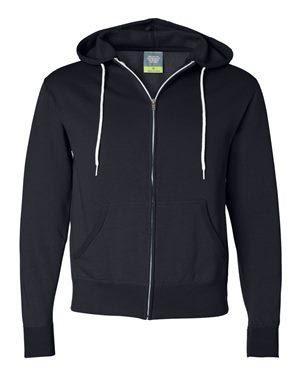Independent Trading Co. Unisex Lightweight Full-Zip Hooded Sweatshirt