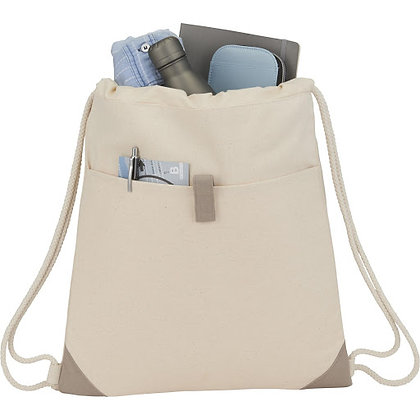 Recycled Cotton Drawstring Bag