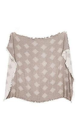 "Torino Throw Blanket 55"" x 75""; 140* 190 cm"