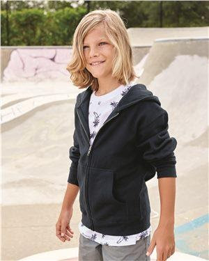 Independent Trading Co. Youth Midweight Full-Zip Hooded Sweatshirt