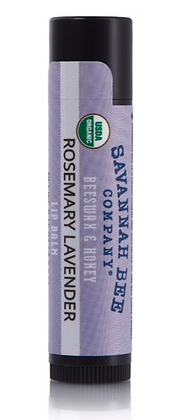 Lip Balm, Rosemary Lavender, Certified Organic - By Savannah Bee
